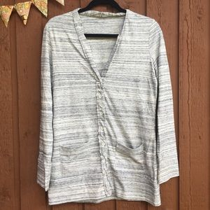 Eddie Bauer Cardigan Women's Small White Gray